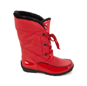 Sporto® Jamie Waterproof Lace-Up Boot, Red 6 M