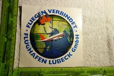 Alter Aufkleber Flugzeug Fluglinie Gesellschaft LTU LTS Flügel des Südens