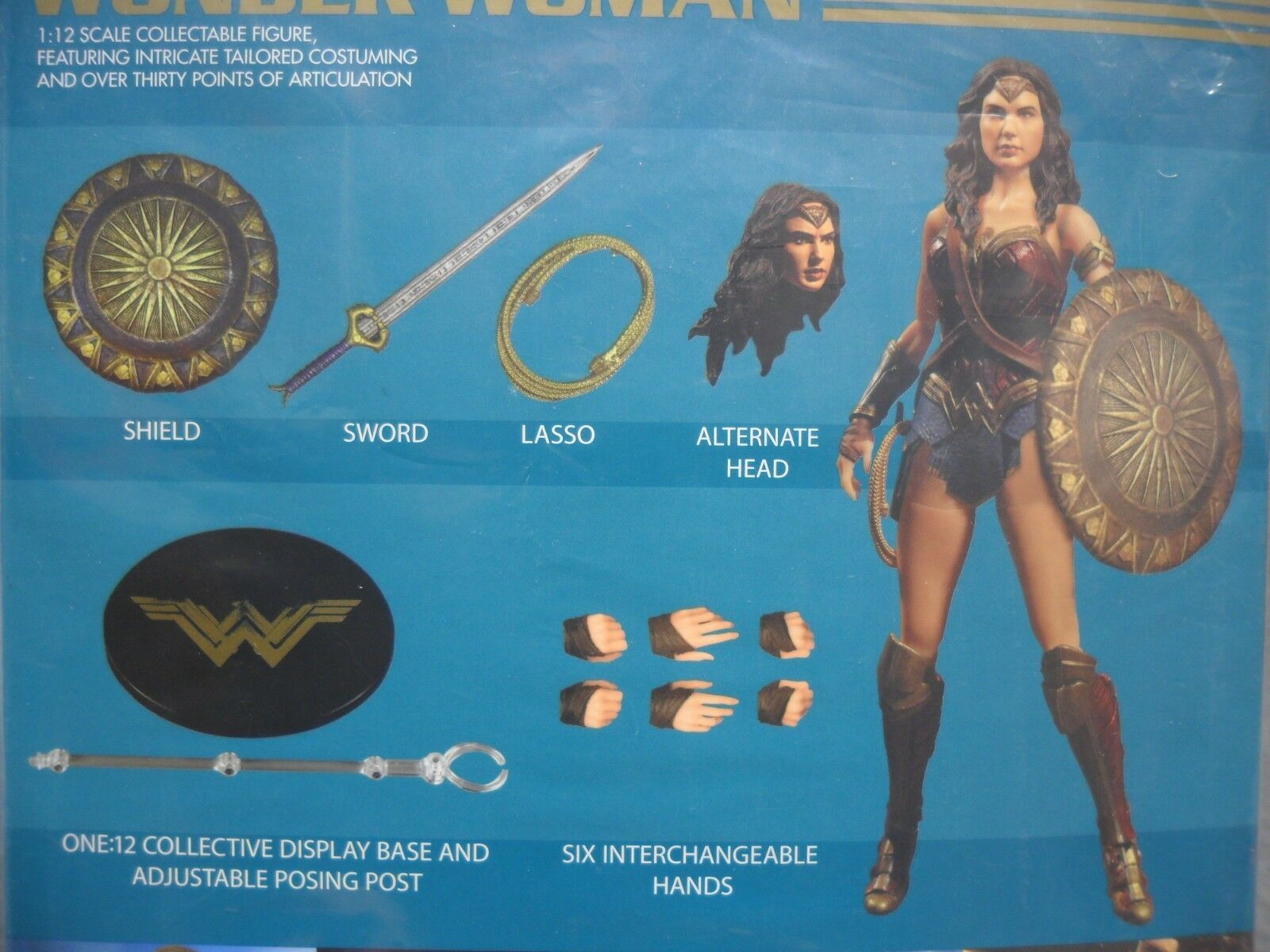 Mezco neue  1  12 wonder woman  authentisches gemeinsames 12 action - figur