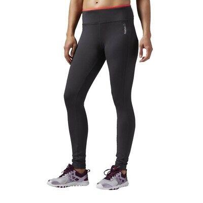Running Fitness Gym Grey New Womens Ladies Reebok Leggings Bottoms Pants