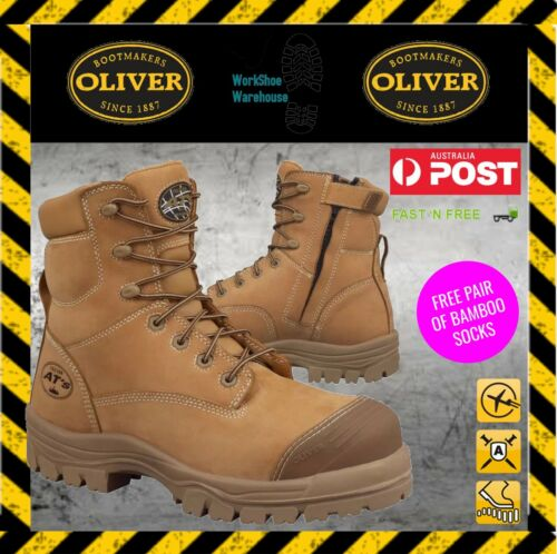 Oliver Boots 45632z Zip Composite Toe Safety Boot 1 FREE BAMBOO SOCK