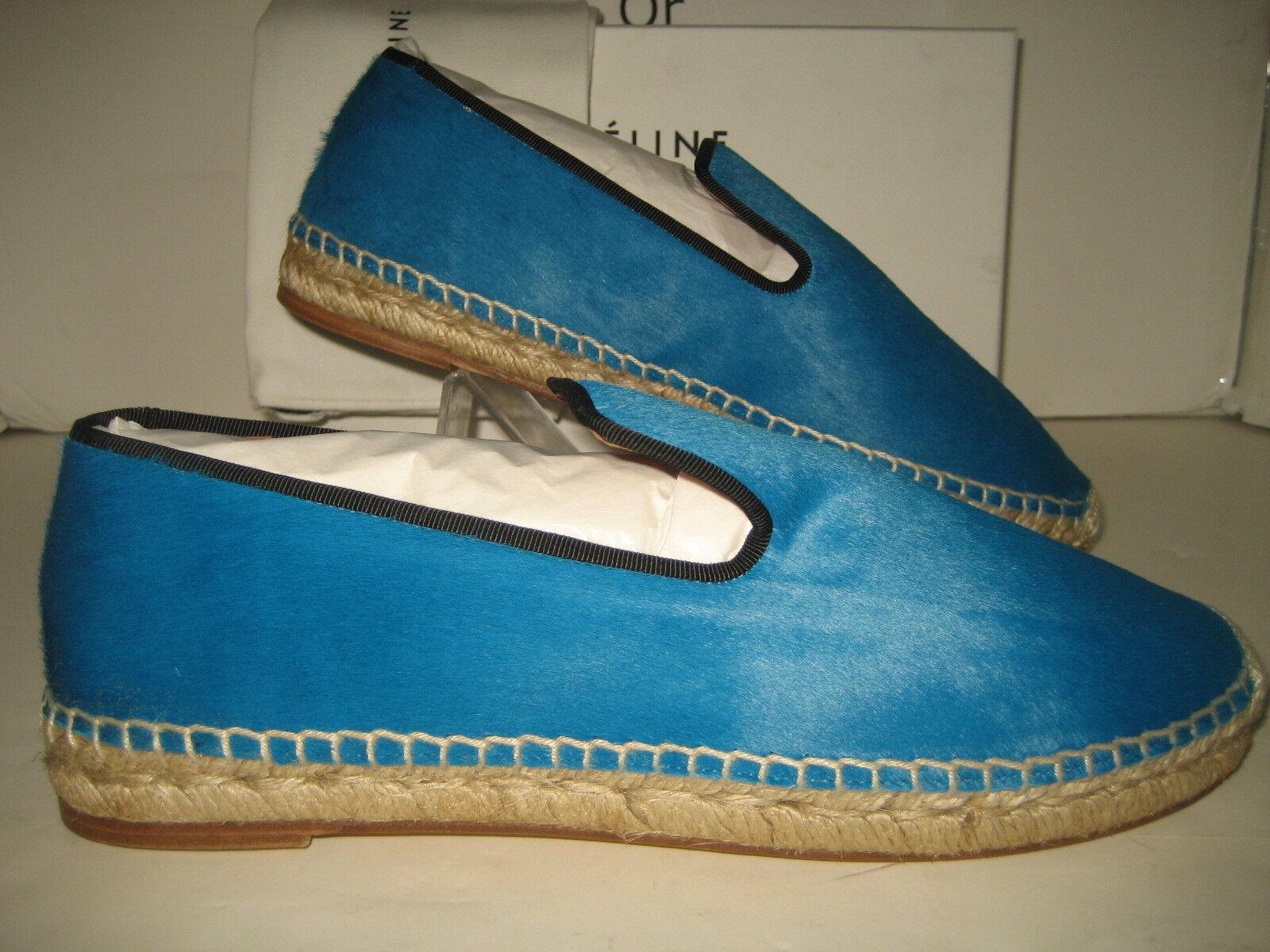 950 Nueva Celine US 5 5 5 EU 35 Turquesa Pony Cabello Alpargatas Mocasines Sin Cordones Zapatos  comprar barato
