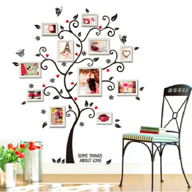 Removable DIY Family Tree Wall Decal Sticker Large Vinyl Photo ...