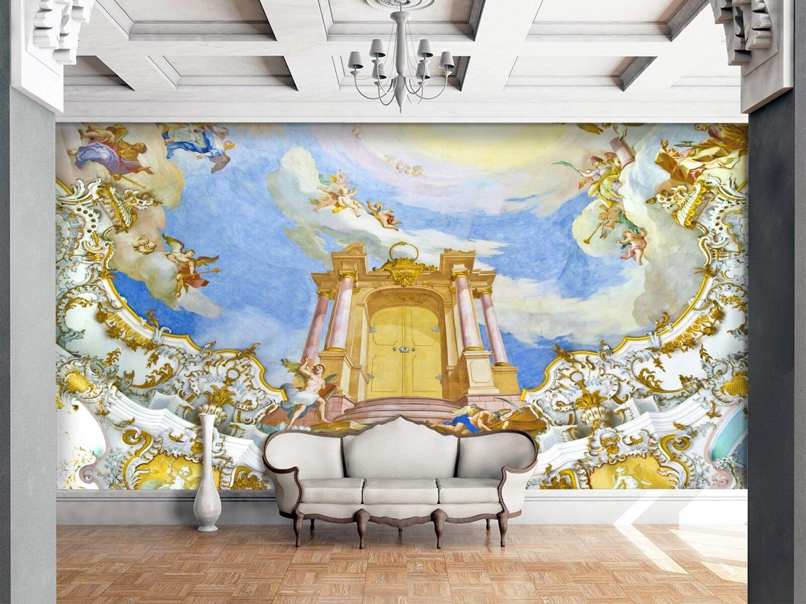 3D Herrlicher Himmel Palast 3 Tapete Wandgemälde Tapete Tapeten Familie Kinde DE