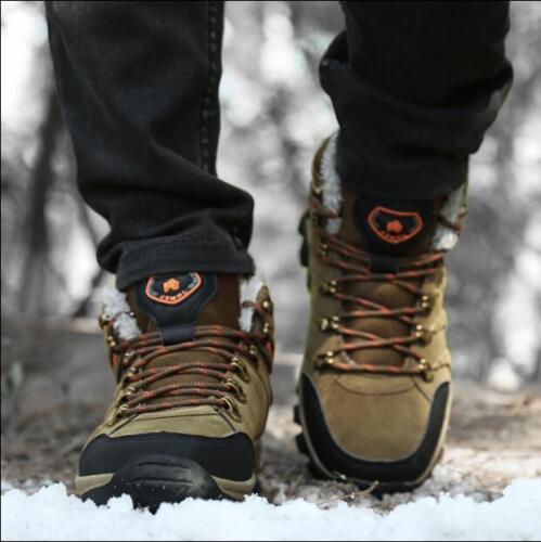 Homme Haute Tops Baskets Hiver chaud cheville Bottes de randonnée de neige chaude Chaussures 7.5-11 US