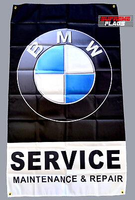 BMW Service Flag Banner 3x5 ft Maitenance /& Repair Car Garage Black