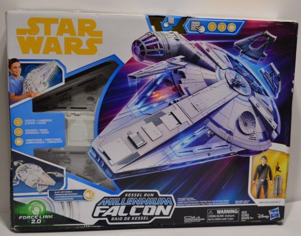 Star Wars Force Link 2.0 Kessel Run Millennium Falcon w  Han Solo Figure