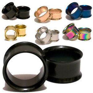 Pair-3-30MM-Stainless-Steel-Double-Flare-Flesh-Ear-Tunnels-Plugs-Earlets-Gauges