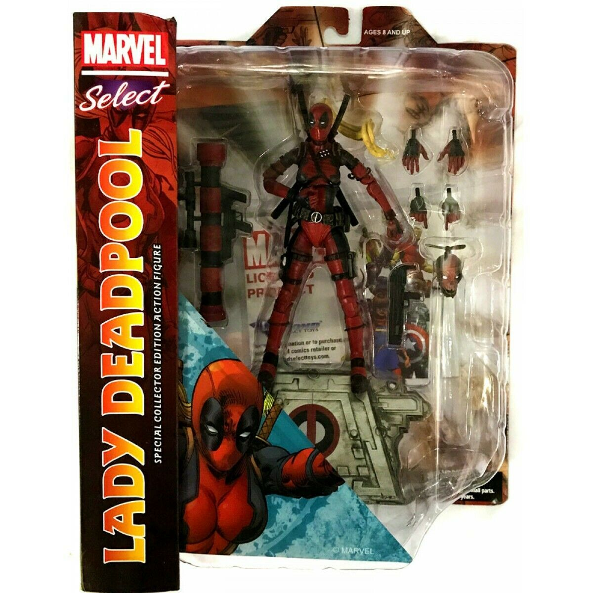 Lady Deadpool Marvel Select Action Figure - UK Seller