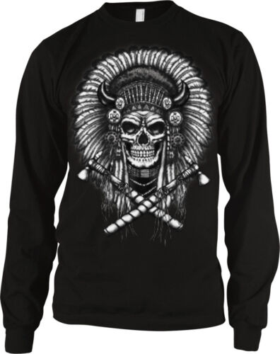 Chief Tomahawk Native American Indian Oversize Long Sleeve Thermal
