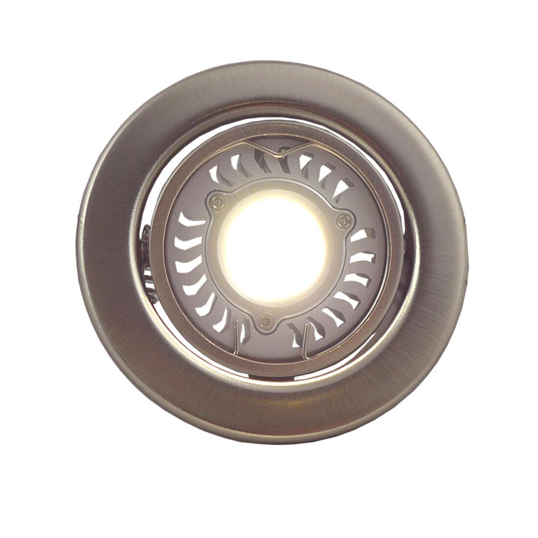 LED Schwenkstrahler Einbaustrahler Rund 3,5W Edelstahl Energieeffizienzklasse A+