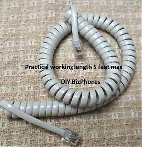 Generic Ash Short 9 Ft Phone Handset Cord Tan Curly Coil New In Factory Bag