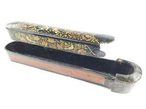 Beautiful-Antique-Middle-Eastern-Paper-Mache-Pen-Box