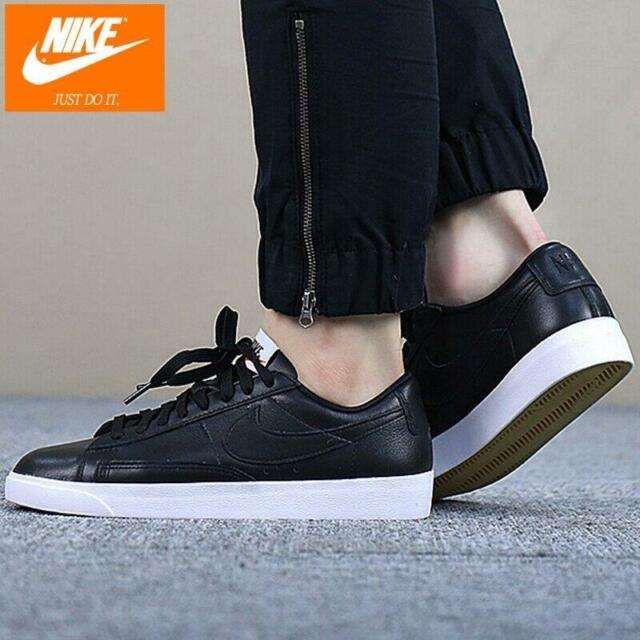 Nike Blazer Low Leather Black/White Women's Sneakers NWOB AA3961-001  Size7/7.5/8