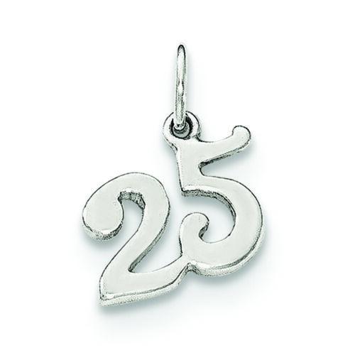 Sterling .925 Argent 25 Charm Pendentif fabricants Standard prix de détail $15