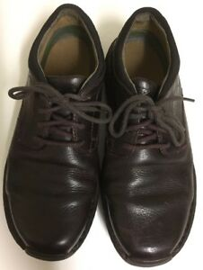 Timberland-Brown-Mens-54556-Size-9W-Oxford-Leather-Hiking-Walking-Lace-Up-Shoes