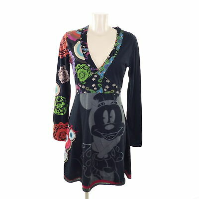 DESIGUAL x DISNEY Kleid Dress Damen Schwarz Bunt Gr. L 40 ...