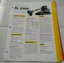 Factory Gradall Xl 3300 Hydraulic Excavator Dealership Spec Brochure Guide
