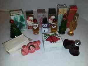 Vintage-Avon-Perfume-Cologne-Bottles-Decanters-Soap-w-Bxs-Christmas-Collectible