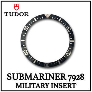 Cubierta-Negra-TUDOR-Submariner-Militar-insertar-Aluminio-Hecho-en-Suiza-para-7928