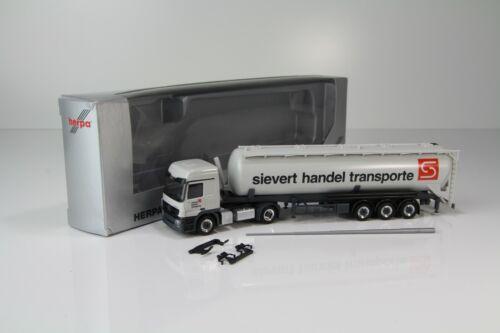 "29780 //H7059 Herpa MB Actros MP3 L Silosattelzug ""Sievert Handel Transporte"" Nr"