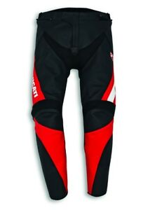 DUCATI Alpinestars SPEED EVO C1 Lederhose Hose Leather Pants schwarz rot NEU !!