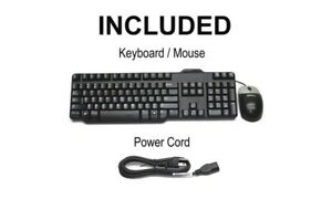 Dell-USB-KEYBOARD-AND-MOUSE-amp-POWER-CABLE-WITH-HEIGHT-ADJUSTABLE-CLIPS