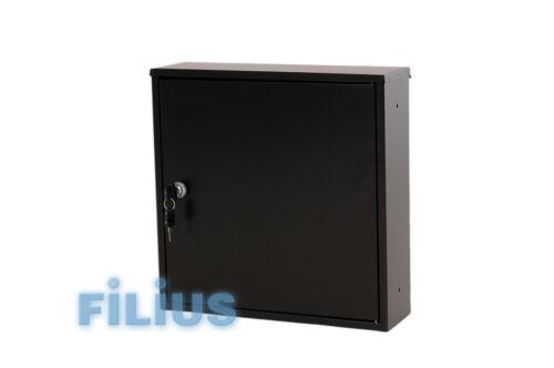 schwarz Zaunbriefkasten FD1K  Durchwurfbriefkasten RAL 9005 tiefschwarz