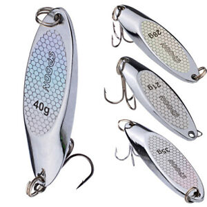 Metal-Fishing-Slice-Blade-Spinner-Hard-Baits-Spoon-Sea-Tackle-Treble-Lures-Hook