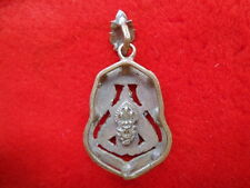 Phra rahu  brass thai  amulet pendant  the lord of power and rich