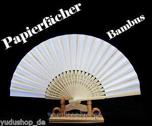 Realistisch 20 Stück Papierfächer Handfächer Fächer Weiss Quell Sommer Durst Braut-accessoires