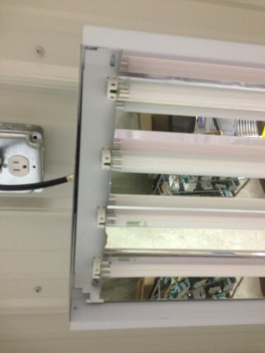 4 Lamp F54T5//HO  High Bay Fixtures Brand New  Free Shipping Includes Lamps