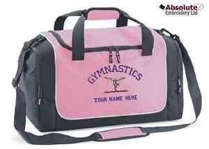Image Is Loading Personalised Gymnastics Quadra Travel Sport Locker Bag Holdall