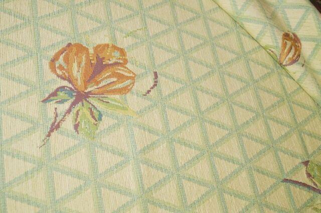 Polsterstoff hellgelb Blumen Möbelstoff Bezugsstoff #590