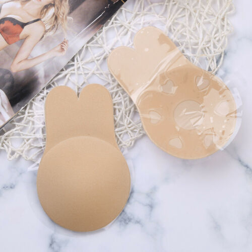 Silicone Rabbit Wings Push Up Breast Lift Tape Invisible Sticky Bra Nipple Cover