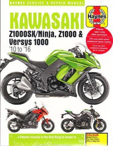 2010-2016 Z1000SX//Ninja /& Versys 1000 Haynes Repair Service Workshop Manual 3779