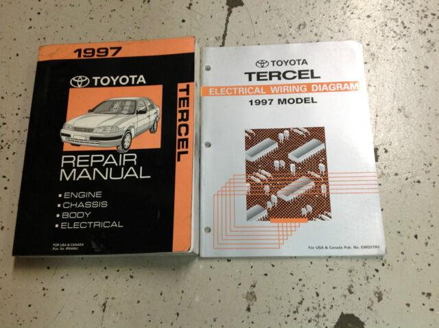 1997 Toyota Tercel Service Shop Repair Workshop Manual Set