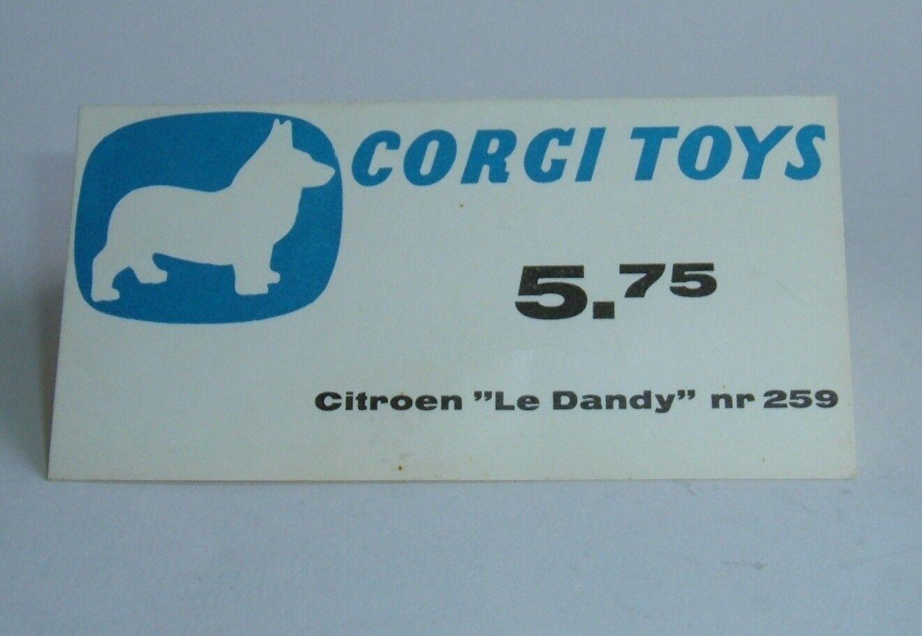 Raro década de 1960 holandés Corgi Juguetes Tienda Pantalla, Citroen 'Le Dandy' Coupe, Excelente Como Nuevo