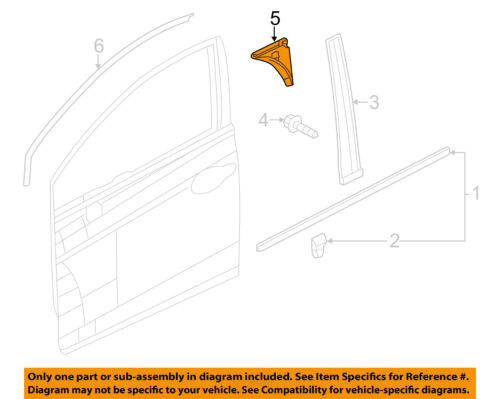 HONDA OEM 12-15 Civic Front Door-Corner Molding Right 72456TR3A01