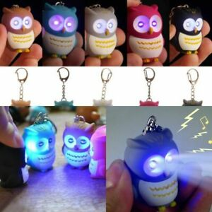 Novelty-Owl-Keyring-with-LED-Torch-Lights-With-Hooting-Key-Sound-Rings-S4C0-Z3Z5
