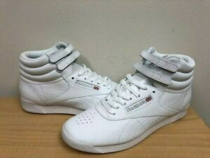 0b573b785aa Image is loading WOMENS-REEBOK-FREESTYLE-HI-FITNESS-70-White-Silver