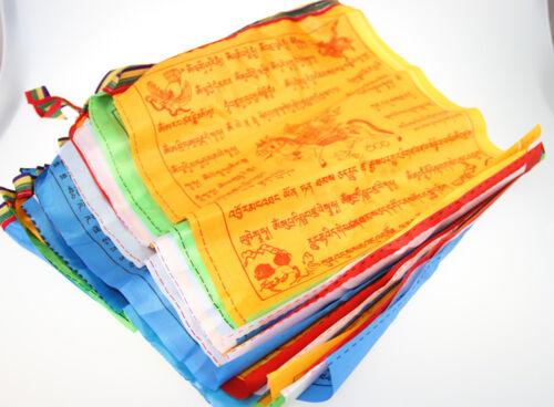 20 Flags 6 Meters Tibetan Buddhist Prayer Flag Artificial Silk Colour Print Hot