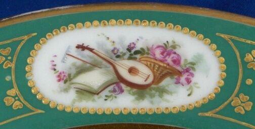 Antik Französisch Paris Porzellan Scenic Szene Plate Porcelaine Vieux Alt Alt Alt France 40e258