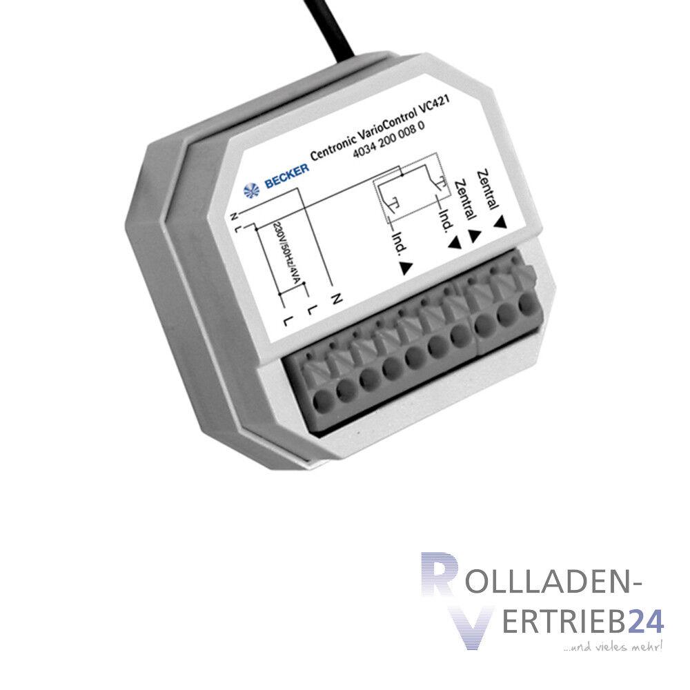 Becker centronic variocontrol vc421 transmisor de radio empotrado enrrollable control