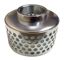 2 Trash Pump Water Suction Hose Plated Steel Strainer 2 Female Npt