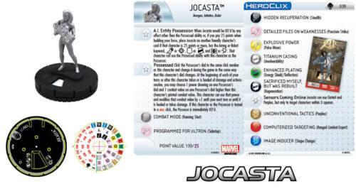 Wizkids Heroclix Marvel Age of Ultron Jocasta 039 With Card #039