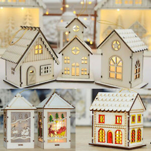 Christmas-Wooden-House-LED-Lights-Interior-Xmas-Tree-Hanging-Ornament-Decoration