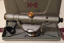 K&E Keuffel & Esser Co. Surveyor Transit Telescope 77 W/ Case & Surveying Tools