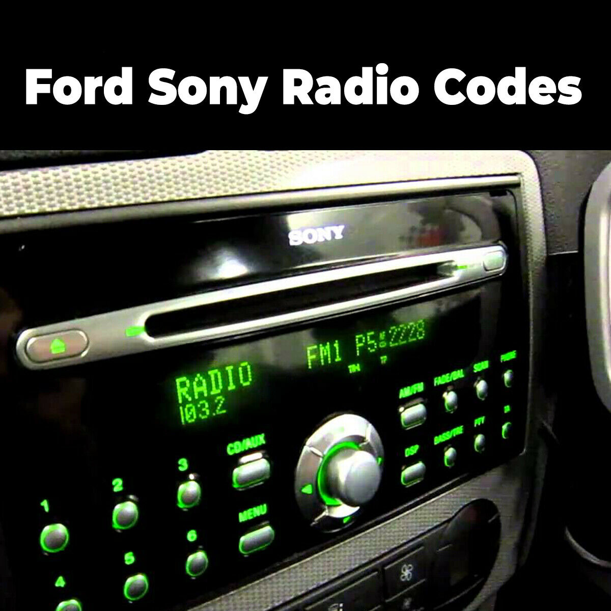 Details about Ford Sony Radio Code Stereo Unlock Reset Codes Pin Car | Fast  Service