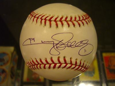Autographs-original Baseball-mlb Collection Here Jimmy Rollins Philadelphia Phillies Dodgers Single Signed Game Used Baseball Jsa Excellent In Cushion Effect